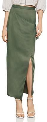 BCBGMAXAZRIA Faux-Wrap Maxi Skirt