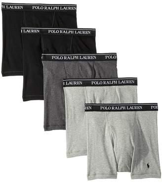 Polo Ralph Lauren Classic Fit w/ Wicking 5-Pack Boxer Briefs Men's Underwear