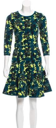 Zac Posen Floral Fit and Flare Dress