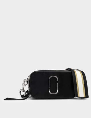 Marc Jacobs Pave Chain Snapshot Camera Bag in Black Goatskin