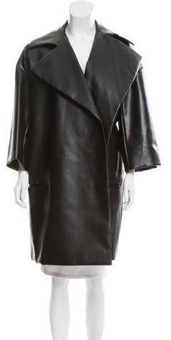 CelineCéline Vegan Leather Coat