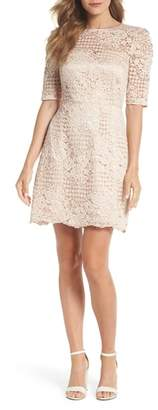 Chelsea28 Ruched Sleeve Lace Dress