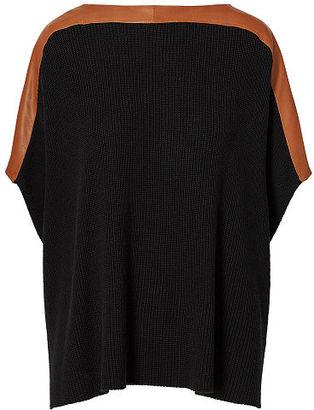 Polo Ralph Lauren Leather-Trim Poncho $498 thestylecure.com