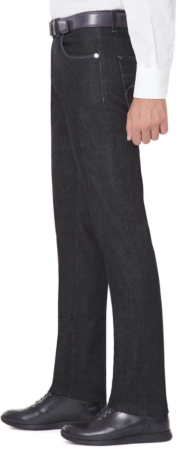 Stefano Ricci Stretch-Denim Straight-Leg Jeans