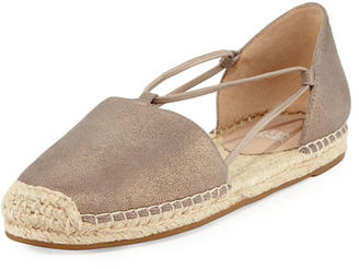 Eileen Fisher Lee Metallic Espadrille Flat $135 thestylecure.com