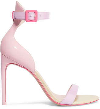 Sophia Webster Nicole Color-block Patent-leather Sandals - Pink