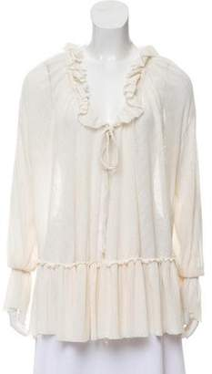 See by Chloe Long Sleeve Ruffle Blouse