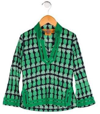 Tory Burch Girls' Printed Long Sleeve Top
