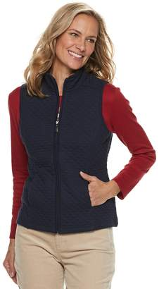 Croft & Barrow Petite Quilted Knit Vest