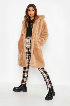 boohoo Premium Oversized Teddy Faux Fur Coat