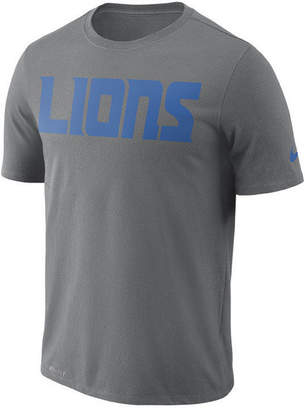 Nike Men Detroit Lions Dri-fit Cotton Essential Wordmark T-Shirt