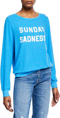 Wildfox Couture Sunday Sadness Scoop-Neck Pullover Sweater