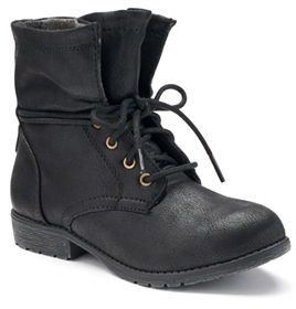 SONOMA Goods for LifeTM Girls' Slouchy Lace-Up Boots $49.99 thestylecure.com
