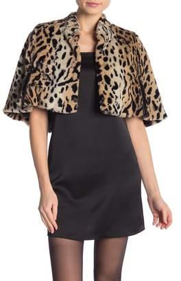 Betsey Johnson Cheetah Faux Fur Cape