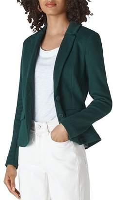 Whistles Slim Jersey Knit Blazer