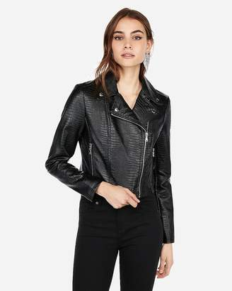 Express Embossed Cropped (Minus The) Leather Jacket