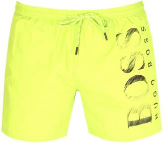 5aecfd5cbf HUGO BOSS Boss Business Octopus Swim Shorts Yellow