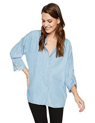 Trust Women's Mandarin Collar Tencel Shirt