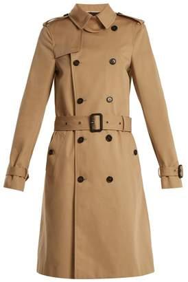 Saint Laurent Double-breasted gabardine trench coat