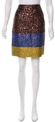 Derek Lam Brocade Pencil Skirt
