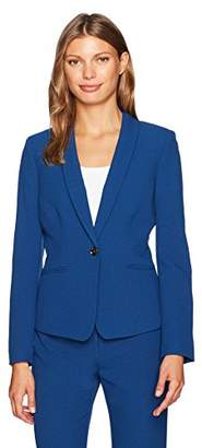 Tahari by Arthur S. Levine Women's Crepe One Button Jacket
