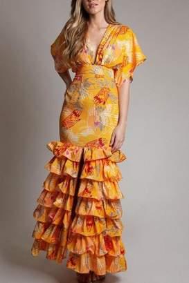 Latiste Tiered Ruffle Dress