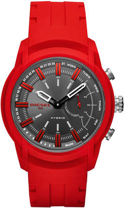 Diesel On Men's Armbar Red Silicone Strap Hybrid Smart Watch 44mm
