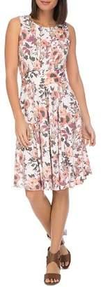 Bobeau B Collection by Skye Sleeveless Floral-Print Knit Dress