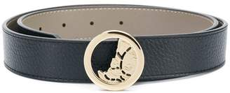Versace pebbled leather belt