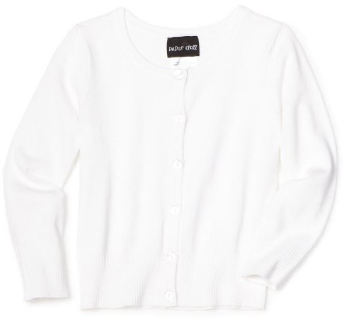 Paperdoll Girls 7-16 Solid Button Cardigan