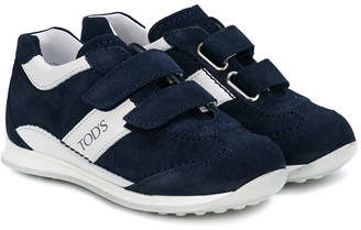 Tod's Kids panelled touch-strap sneakers