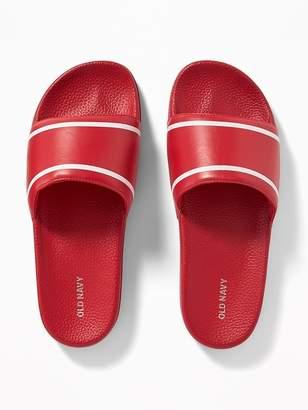 Old Navy Faux-Leather Slide Sandals for Men