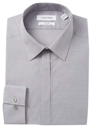 Calvin Klein Solid Stretch Slim Fit Dress Shirt