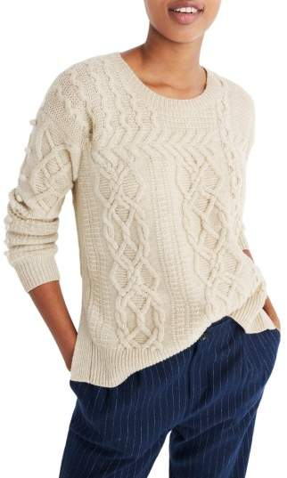 Madewell Open Side Bobble Pullover Sweater