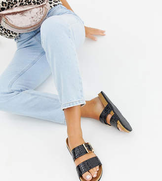 Asos Design DESIGN Wide Fit Fool For You sliders