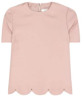 Valentino Wool and silk top