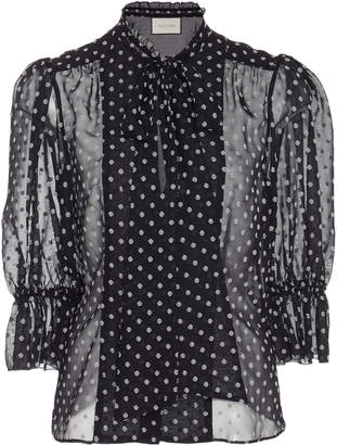 398f4f83 Black/white Polka Dot Top With Bow - ShopStyle UK