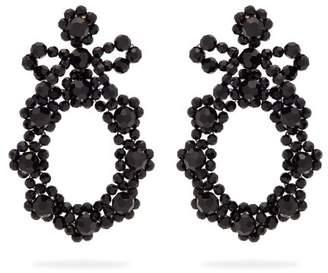 Simone Rocha Beaded Drop Earrings - Womens - Black
