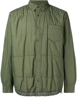 Sacai long-sleeve fitted bomber jacket