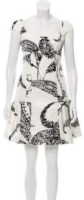 Giambattista Valli Abstract Print Silk-Blend Dress