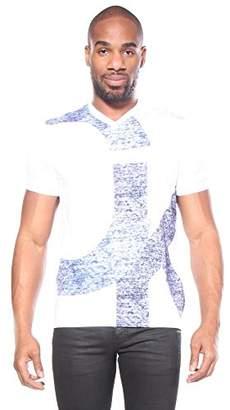 Calvin Klein Jeans Men's Short Sleeve T-Shirt V-Neck with Overlap Logo