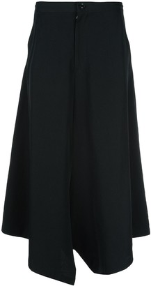 Y's wide-leg flared trousers