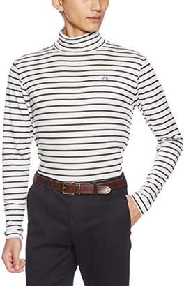 Munsingwear (マンシングウェア) - (マンシングウェア) Munsingwear(マンシングウェア) 長袖ニットシャツ GWMK105 N920(ホワイト×ネイビー) LL:身長175-185、チェスト104-112