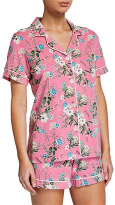 BedHead Plus Size Ladybug Floral Shorty Pajama Set