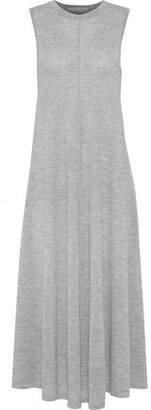 Autumn Cashmere Fluted Mélange Cashmere Midi Dress