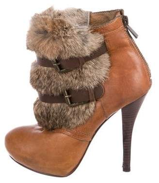 Dolce Vita Fur-Trimmed Ankle Boots