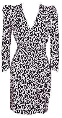 Maje Women's Ripanta Leopard Print Mini Dress