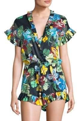 Alexis Women's Faine Floral Romper - Calipso Black - Size Medium