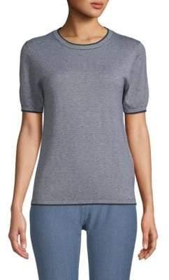 Max Mara Striped Silk & Cashmere Top