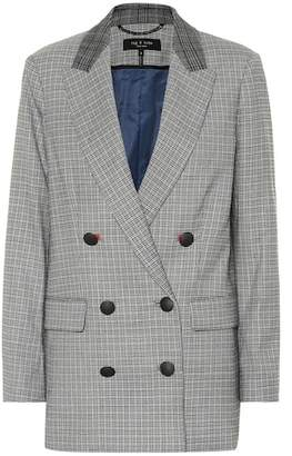Rag & Bone Ellie houndstooth wool-blend blazer